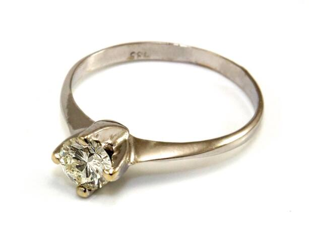 Gyémánt köves fehérarany eljegyzési gyűrű