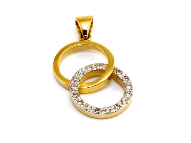Köves karikás arany medál