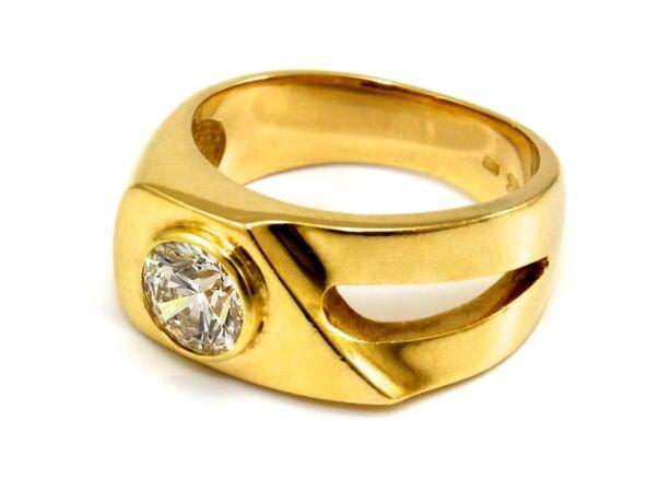 Gyémánt köves arany gyűrű