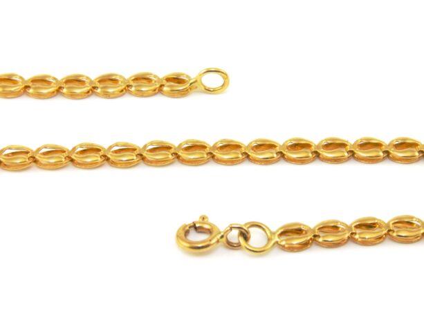 Lemezelt arany nyaklánc