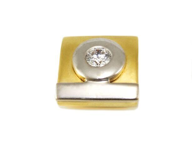 Bicolor köves arany futó medál