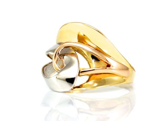 Eklektikus bicolor aranygűrű
