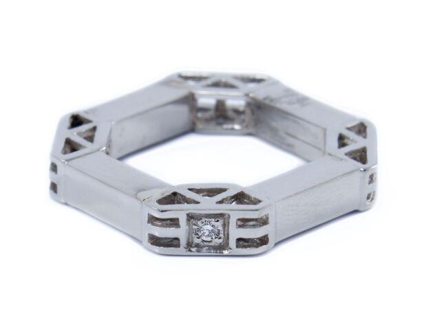 Fehérarany valódi köves női gyűrű