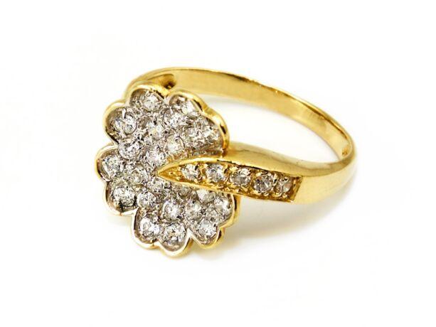 Köves virág női arany gyűrű