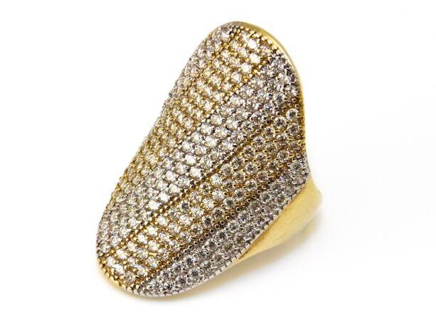 Köves ovális női arany gyűrű