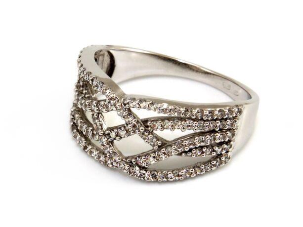 Köves női fehérarany gyűrű