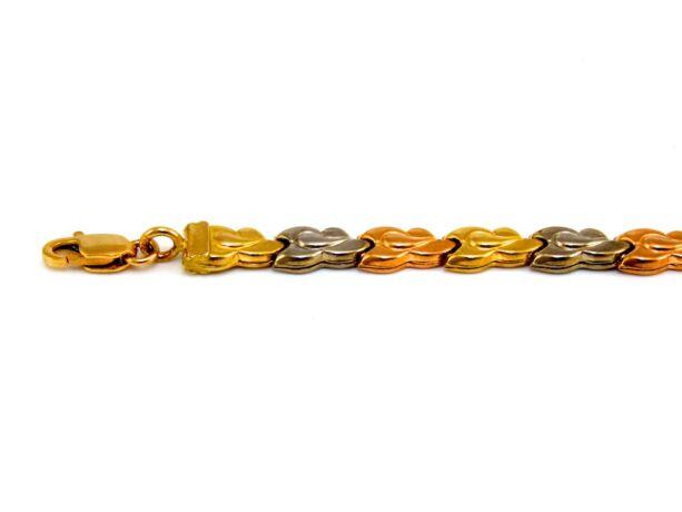Tricolor arany karlánc
