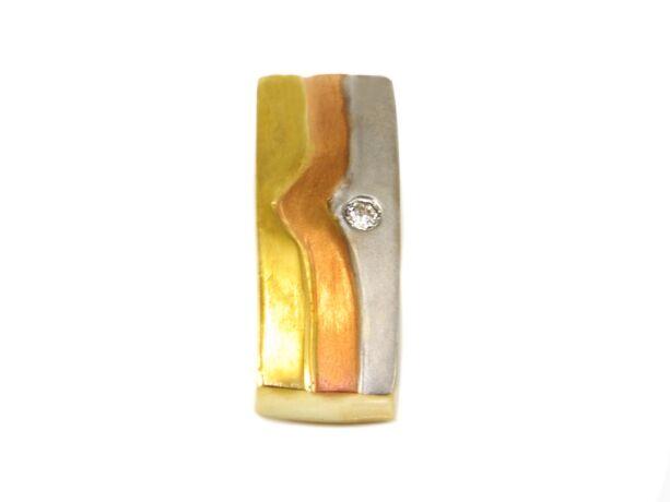 Tricolor köves arany futó medál