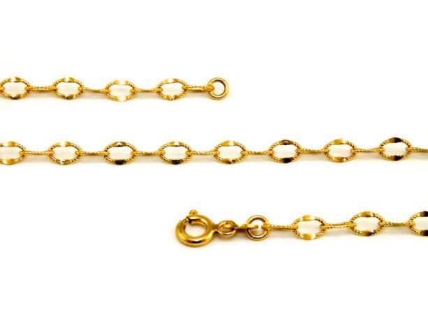 Mintás anker arany nyaklánc