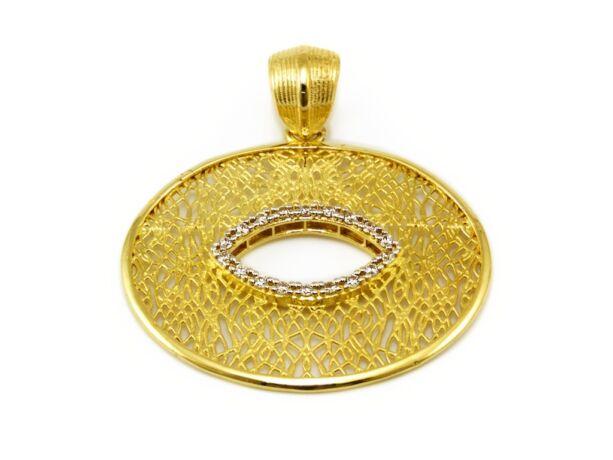 Ovális áttört arany medál