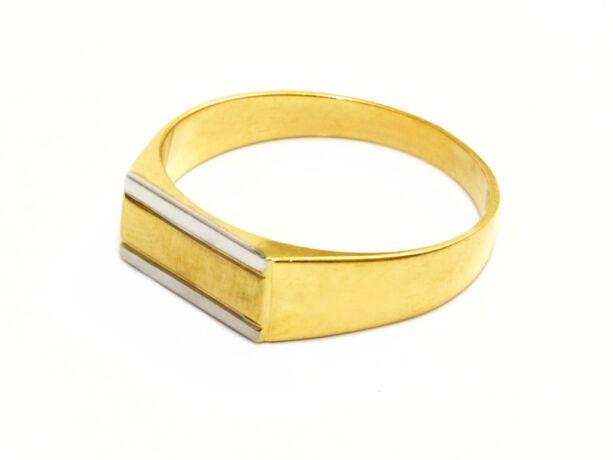 Matt és bicolor férfi arany gyűrű