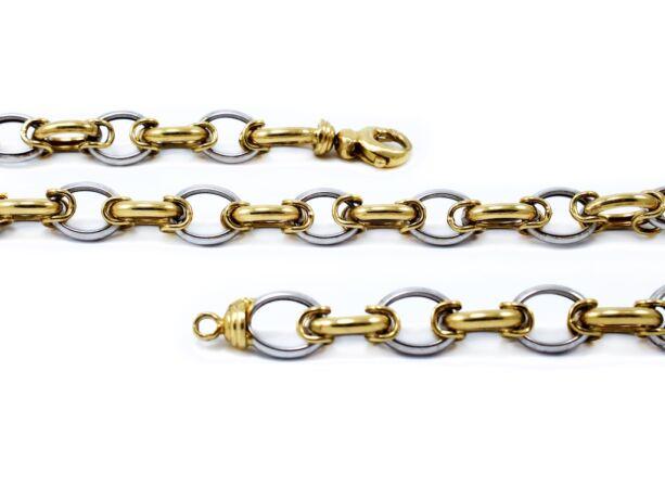 Férfi bicolor arany nyaklánc
