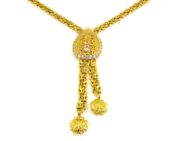 Királyláncos arany nyakék