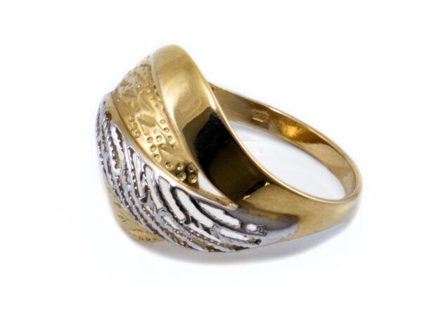 Áttört bicolor arany gyűrű