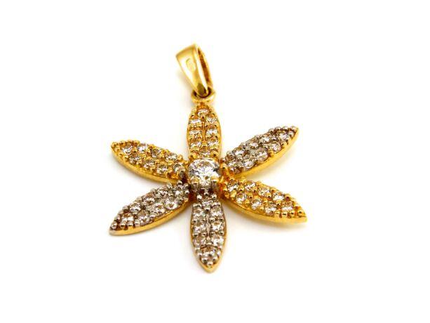 Köves virág arany medál