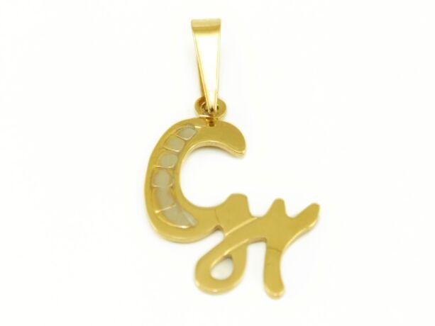 """Arany """"Gy"""" betű medál"""