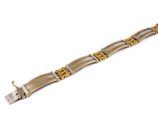 Bicolor férfi arany karkötő