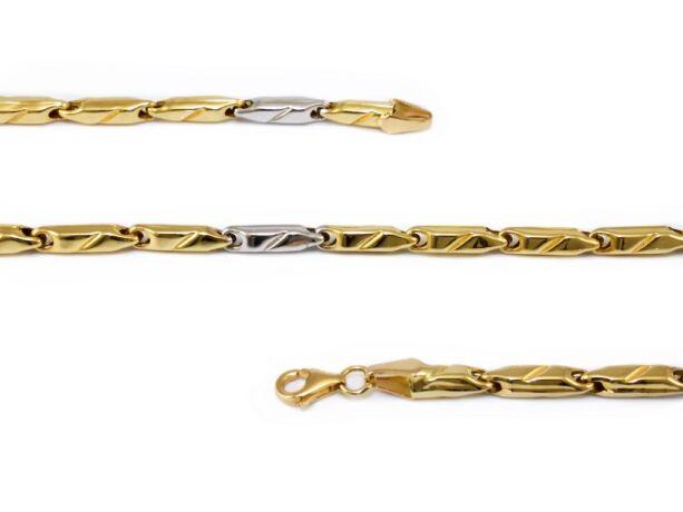 Barakka jellegű bicolor arany nyaklánc