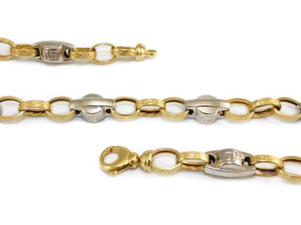Barakka jellegű arany nyaklánc