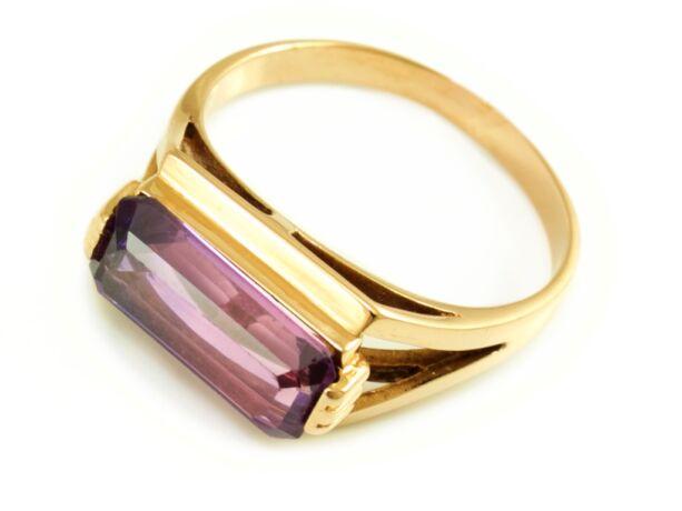 123bb1527 Lila köves női vörösarany gyűrű