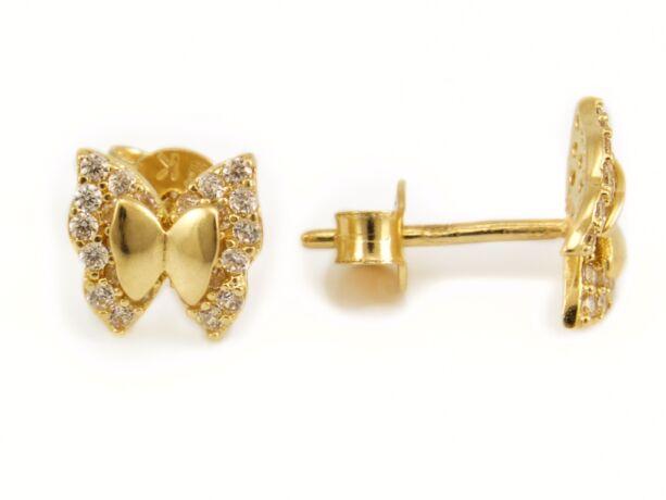 b495e0dd9 Köves pillangó bedugós arany fülbevaló