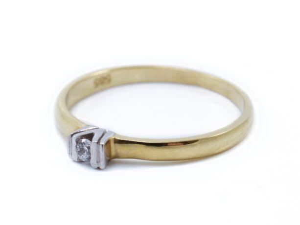 Bicolor arany szoliter eljegyzési gyűrű