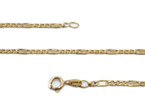 Vékony betétes figaró arany nyaklánc