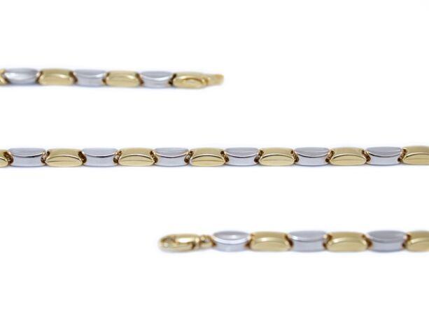 Bicolor barakka jellegű arany nyaklánc