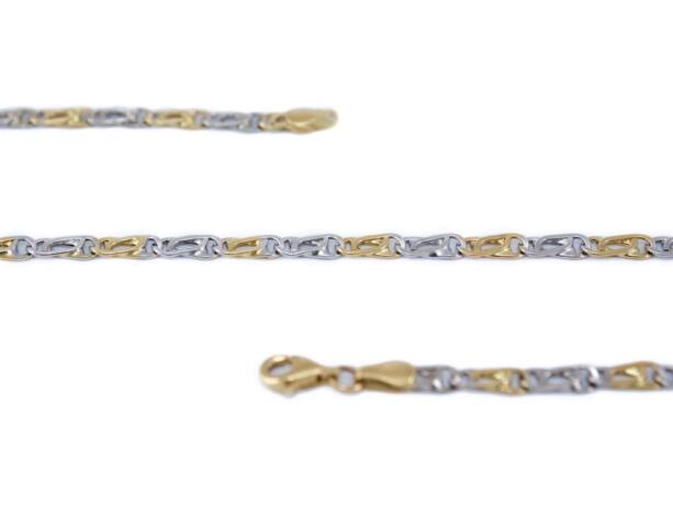 Bicolor scharless arany nyaklánc