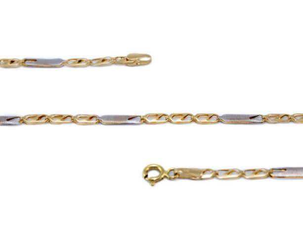 Bicolor lemezelt arany nyaklánc