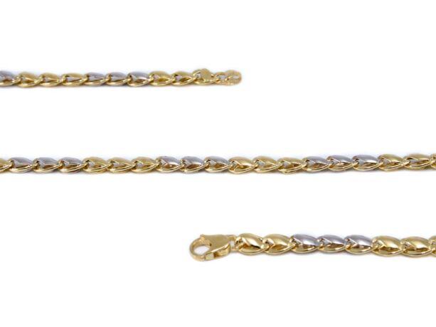 Bicolor fantázia arany nyaklánc