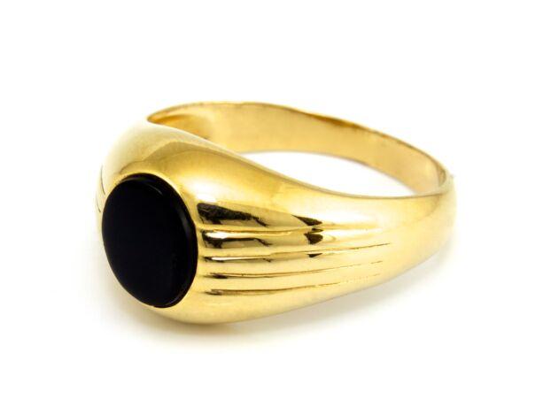 Köves férfi arany pecsétgyűrű