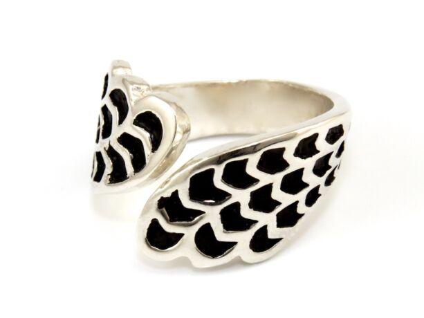 Zománcos női ezüst gyűrű