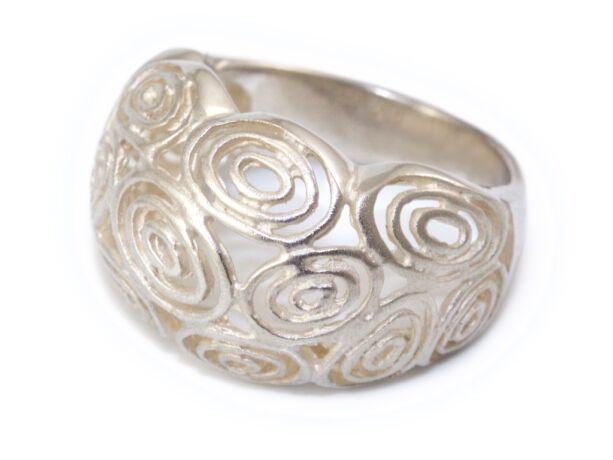 Áttört domború ezüst gyűrű