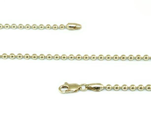 Bogyós ezüst nyaklánc
