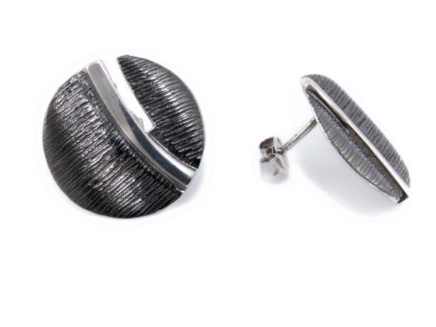 Antikolt bedugós ezüst fülbevaló