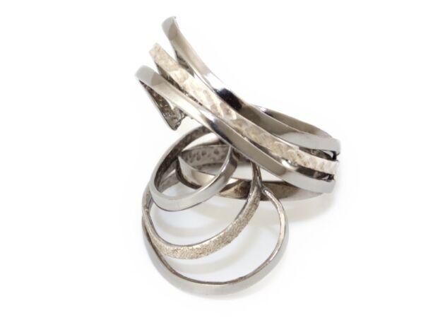 Matt és vésett ezüst fantáziagyűrű