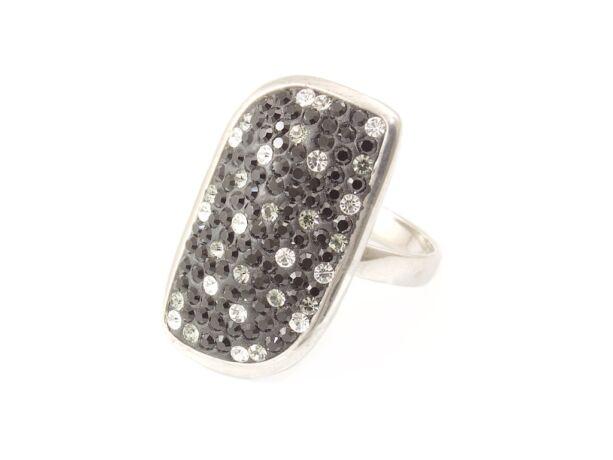 Swarovski kristályos női ezüst gyűrű