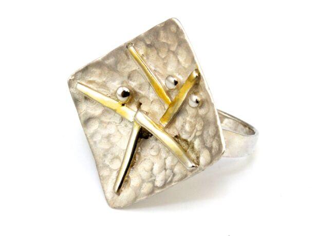 Kézi készítésű ezüst fantázia gyűrű