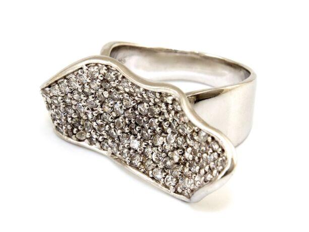Modern köves női ezüst gyűrű