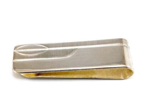 Vésett ezüst pénzcsipesz