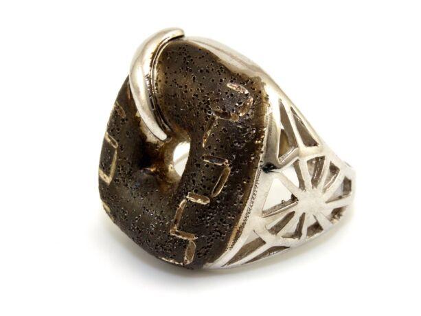 Antikolt mintás női ezüst gyűrű