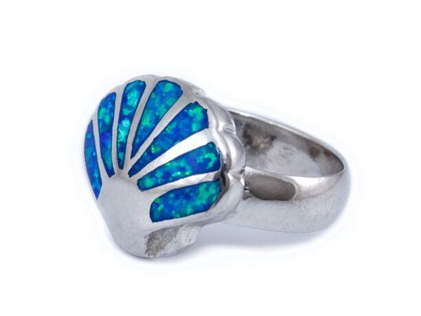 Opálos kagylós ezüst gyűrű