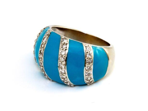 Köves női ezüst gyűrű