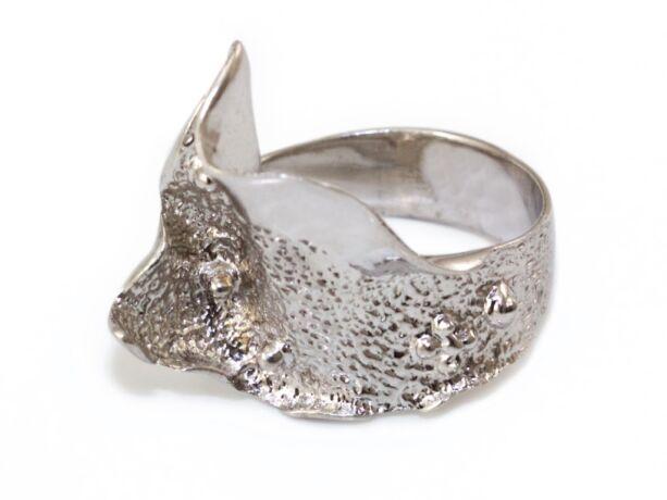 Ezüst fantáziagyűrű