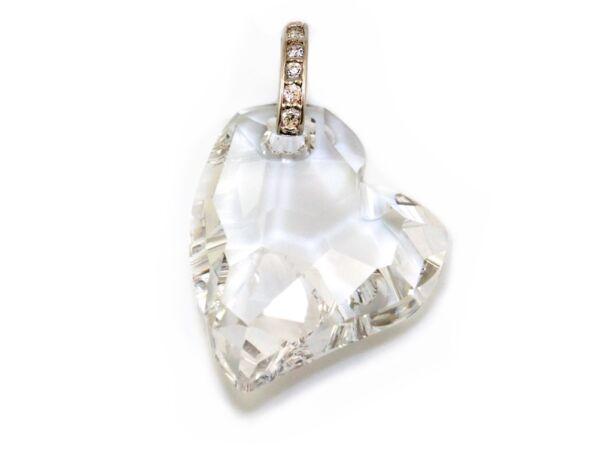 Swarovszki kő szív medál