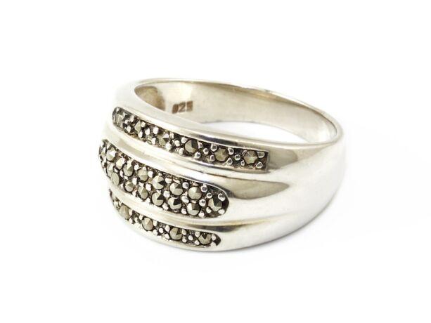 Markazitos női ezüst gyűrű