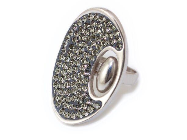 Swarovski kristályos hosszúkás ezüst gyűrű