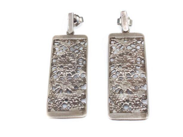 Antikolt hatású kézi készítésű ezüst fülbevaló