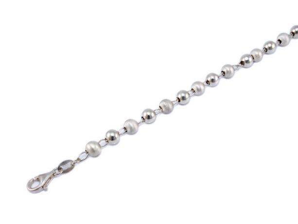 Fényes-matt bogyós ezüst karlánc